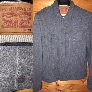 $89 Levi's Gray slim sweatshirt western jacket XL